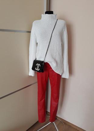 1+1=3  удлиненный обьемный свитер крупной вязки