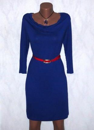 Синее стильное платье от promiss размер: 46-м