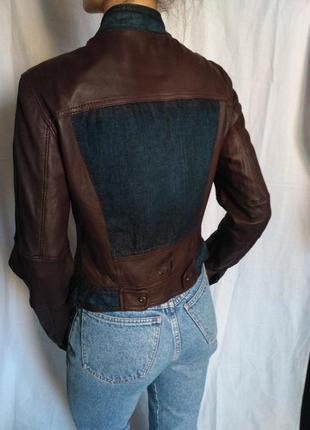 Armani оригинал!!! кожаная курточка armani jeans оригинал косуха из натуральной кожи