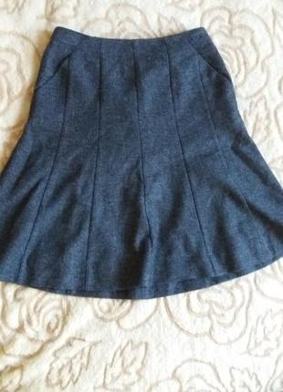 Шерстяная юбка французского бренда caroll