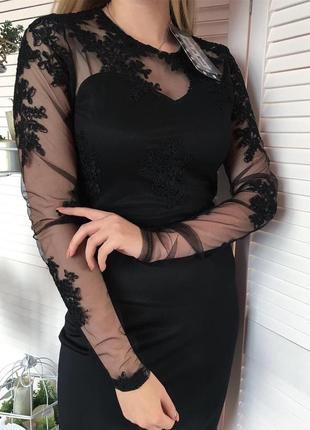 Елегантна чорна сукня