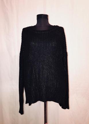 Модный свитер оверсайз с блестящей пропиткой