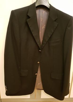 Пиджак черный клубный пьер карден