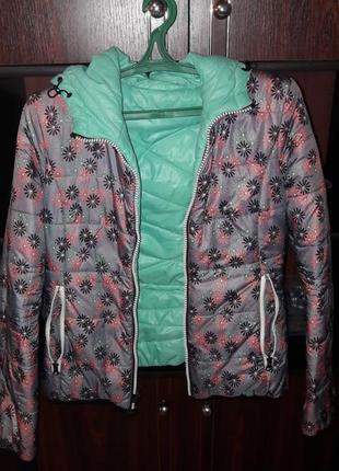 Куртка двусторонняя , демисезонная