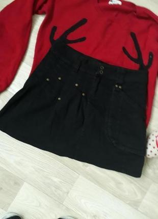 Джинсовая  юбка р 38-40