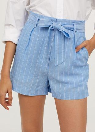 Льняные шорты h&m размер хs