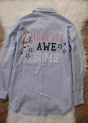 Рубашка для девочки единорожка