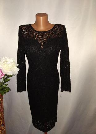 Кружевное нарядное платье с открытой спиной