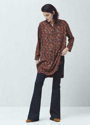 Удлиненная блуза рубашка mango