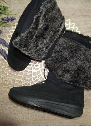 (38/25см) skechers! замша! оригинал! фирменные зимнее сапоги, ботинки на легкой платформе