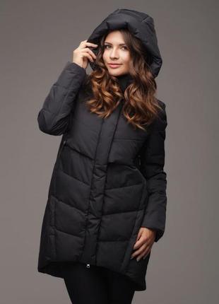 Пуховик пальто куртка черный зимний