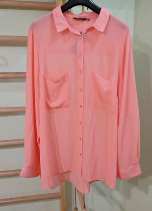 Легкая шифоновая блуза с длинными рукавами