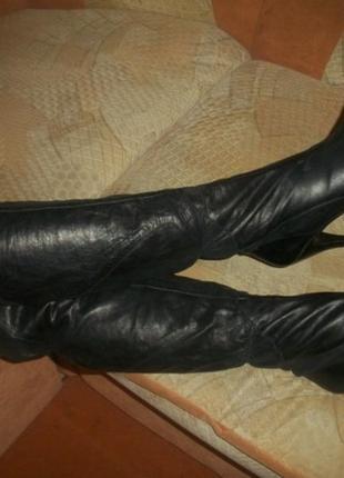 Кожаные сапожки 37 размер sally hansen салли хансен