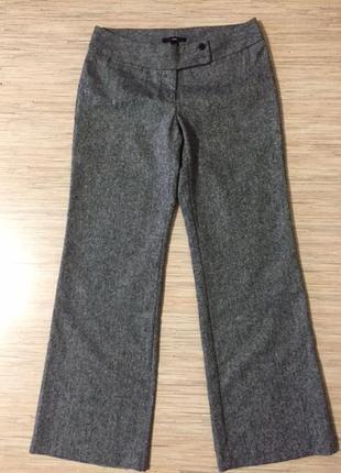 """Классические теплые брюки """"соль с перцем"""" от бренда h&m, размер евр 40, укр 46-48"""