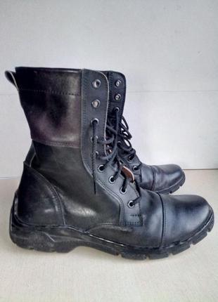 Ботинки кожаные берцы