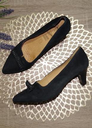 (39/25,5см) caprice! кожа/замша! красивые комфортные туфли на удобном каблучке