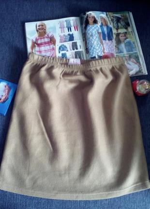 Флисовая, стрейчевая, теплая женская юбка  12-14