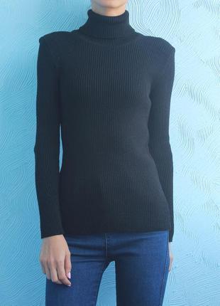 Свитер-лапша, водолазка черного цвета