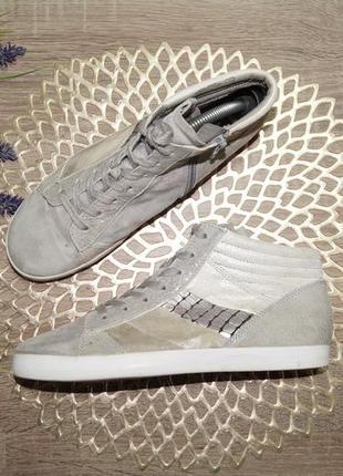 (37/24см) gabor! кожа/нубук! стильные высокие кеды, спортивные ботинки