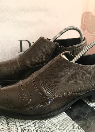 Кожаные лаковые туфли luciano carvari
