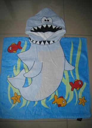 Детское банное, пляжное полотенце - пончо на 2-7 лет primark