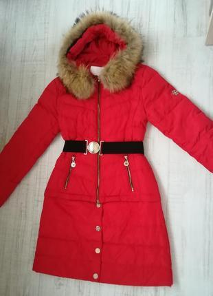 Яскравий і стильний пуховик 2 в 1 куртка - пальто