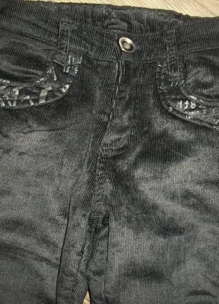 Тёплые брюки, штаны на флисе для девочки 134-140см