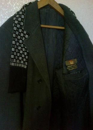 Пальто демисезонное драповое.батал