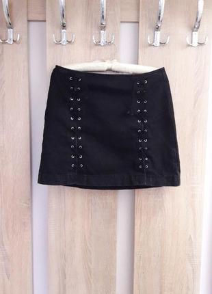Модная юбка женская джинсовая. спідниця жіноча джинсова