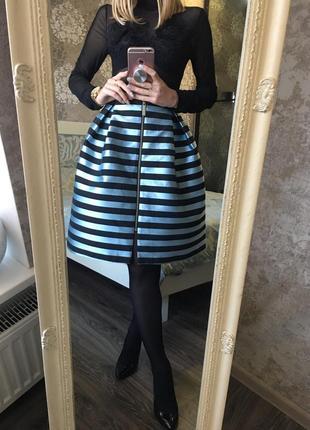 Пищевая юбка в полоску