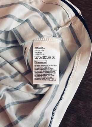 Платье h&m france в полоску из мягкого хлопка с красивой аппликацией; 122-128см3