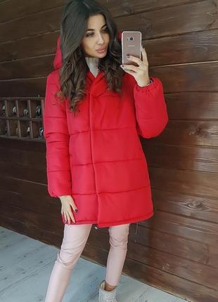 Стильная зимняя куртка зефирка по супер цене
