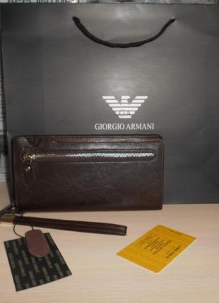 Мужской кошелек клатч барсетка органайзер, кожа, италия 709
