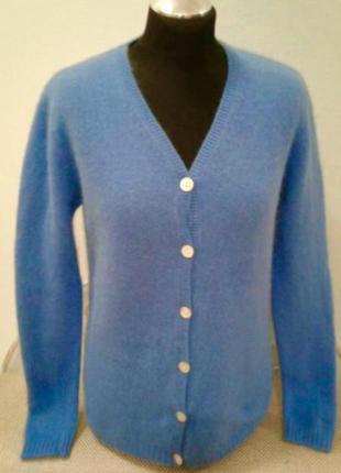Шикарный кардиган свитер кофта из ангоры с шерстью ламы-laura caswell