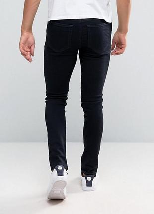 Темно-синие зауженные джинсы new look
