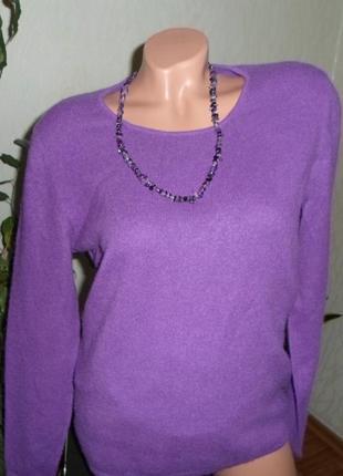 Кашемир 100% джемпер свитер, бренд mazzini, италия l/m
