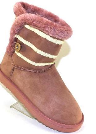 Угги женские пудровые, розовые, черные 36-40р