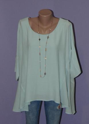 Свободная блузочка нежно-голубого цвета