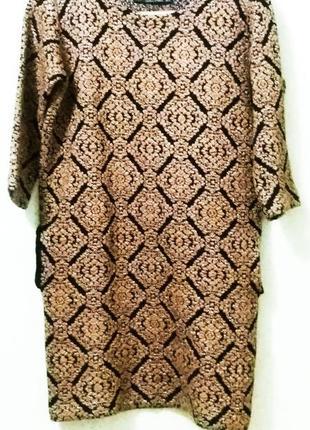 Платье теплое вязаное zara knit