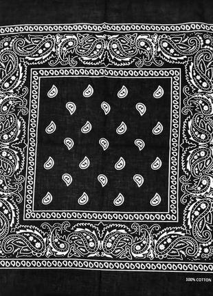 Бандана классика черный повязка на голову в наличии