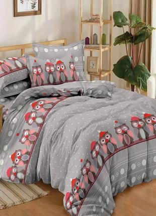 Зимние совушки – постельное белье из поплина 100% хлопок