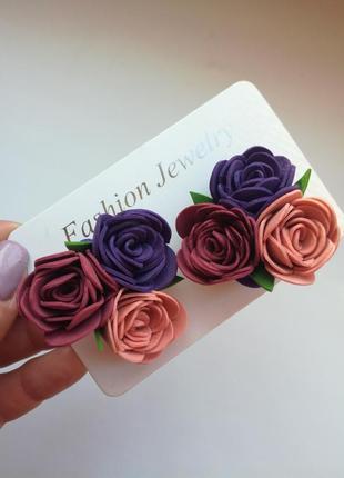Резиночки из фоамирана, цветы из фоамирана1