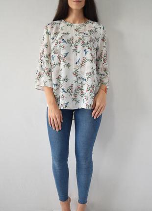 Блузка с птичками f&f