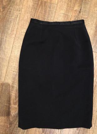 Классическая черная деловая юбка карандаш l