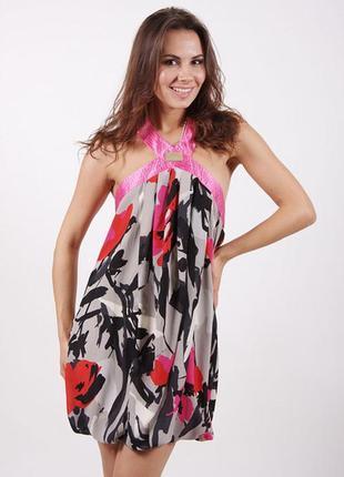 Платье беби- долл с открытой спиной сарафан elisabetta franchi