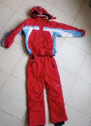Лыжный костюм s m 164 красный червоний зимний
