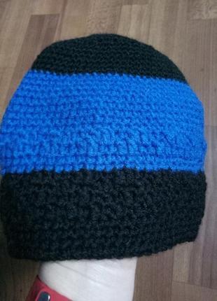 Красивая стильная шапка ручная работа