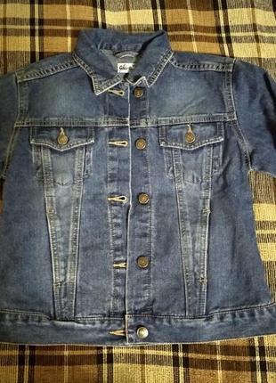 Джинсовая куртка пиджак 140 см