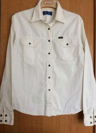 Белая джинсовая рубашка lee (сша)