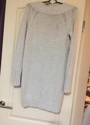 Платье вязаное , теплое